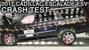 cadillac escalade 2017 2017 cadillac escalade esv frontal crash test youtube