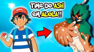 time do ash em alola anime de pokémon sun e moon pokemon