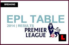 english premier league results table epl table 2014 results heat up english premier league scores rankings