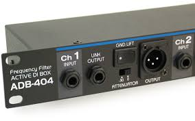 Box Audio Rack Adb 404 Four Channel Rack Mount Active Direct Input Box