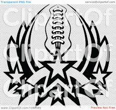 clipart black and white football with forming a