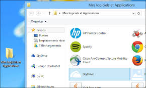 logiciel icone bureau windows 8 8 1 tous les raccourcis vers logiciels et applications
