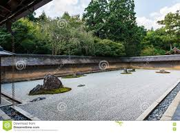 rock garden at ryoanji temple in kyoto japan stock image image
