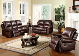 Livingroom Set Loft Leather Living Room Set Brown 4 Pc Leather Living Room Set