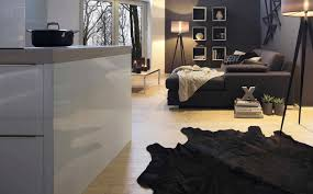 High Gloss Black Laminate Flooring Contemporary Kitchen Laminate Lacquered High Gloss Puro