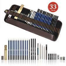 tinpa 33 pieces professional sketch and drawing pencil kit