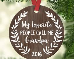 grandparent ornaments personalized ornament etsy