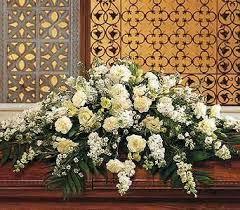 casket spray white casket spray casket standing sprays halladay s