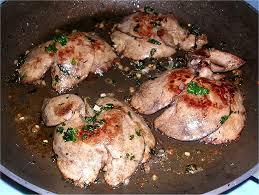 cuisiner le foie de lotte foie de lapin poêlé