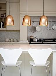 copper pendant light fixtures hanging kitchen island lighting dome