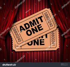 Movie Drapes Admit One Pass Multi Movie Tickets Stock Illustration 74517934
