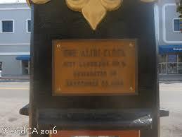 map the alibi clock weird california