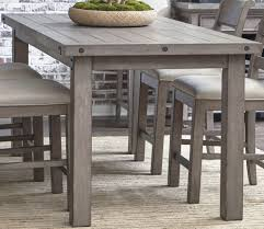 counter high dining room sets prospect hill gray rectangular counter height dining table