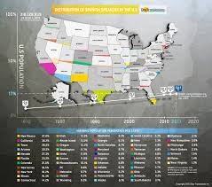 United States Learning Map by Us Has More Spanish Speakers Than Spain New York Post