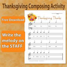 thanksgiving composing sheet susan paradis piano teaching