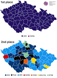 Up Map File Czech Parliament Elections Districts Winner And Runner Up Map