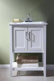 24 inch bathroom vanities and cabinets inch modern glass top white