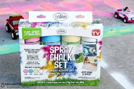 get outside and play with spray chalk