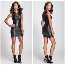 guess faux leather dress faux leather dress leather dresses and
