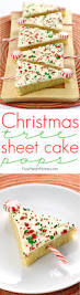 christmas tree sheet cake pops