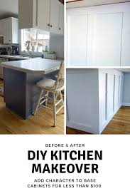 how to trim cabinets budget kitchen makeover how to add character to a kitchen
