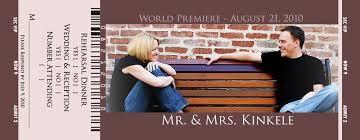 Movie Ticket Wedding Invitations Our Movie Ticket Wedding Invitations Iamnotastalker Wedding