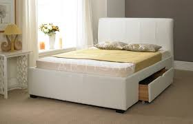 artisan drawer bed 4ft small double leather bedstead