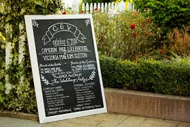 chalkboard program wedding what do wedding guests care about jeffrey house photography