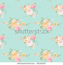 seamless floral shabby chic background vector stock vector