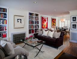 Living Room With Leather Sofa Modern Leather Sofa Living Room Contemporary With Books