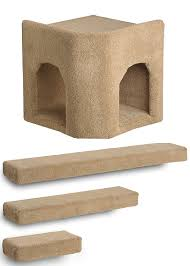 amazon com kitty corner hideaway 3 ramps cat wall climbing