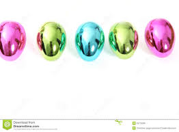 metallic easter eggs line of vibrant shiny easter eggs royalty free stock image image