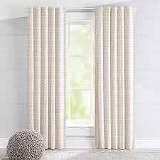 Beige And White Curtains Curtains Hardware Bedroom Nursery Crate And Barrel