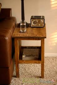 Free Simple End Table Plans by Diy Instructions For Benchright Round End Tables Crafty