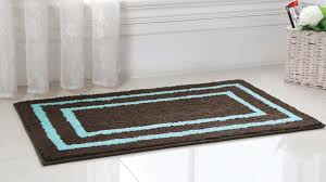 Brown And Blue Bathroom Rugs 2 Regency Manor Microfiber Bath Rug Set Blowoutbedding