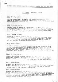 Dinner Party Agenda - left archive documents from the 1984 1985 british miners strike