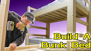 Plans For Building Built In Bunk Beds by Make A Bunk Bed 180 Youtube