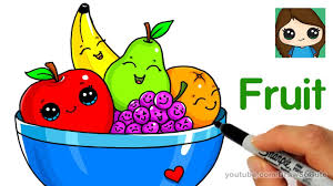 how to draw a bowl of fruit easy youtube