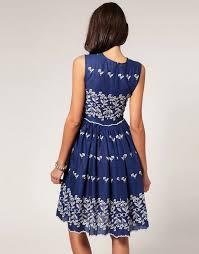asos asos flower embroidered 50s dress