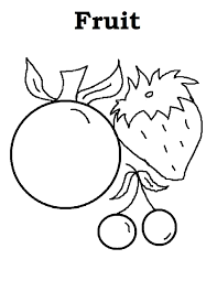 fruits coloring pages chuckbutt com