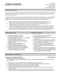 Analyst Resume Examples Bunch Ideas Of Network Analyst Resume Sample On Form Gallery