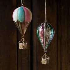 one hundred eighty degrees glass air balloon ornament from