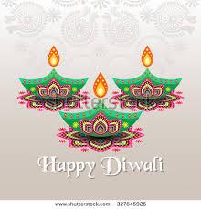 diwali festival greeting card diwali diya stock vector 691205878