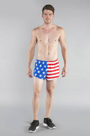 American Flag Workout Shorts Mens Stretch 1