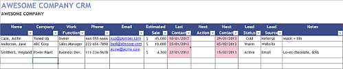 Free Excel Crm Template Balunywa Bytes An Excel Template For Every Occasion
