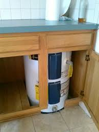 cabinet style water heater water heater in kitchen cabinet or buy a big one and transfer to