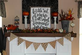 fireplace mantel decorating for fall u2013 ellery designs