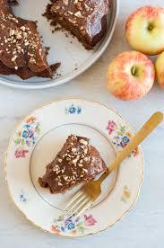 spiced apple bundt cake with apple almond butter frosting paleo
