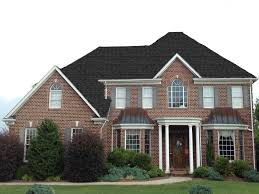 exterior brick wall with paint front door and gaf timberline for
