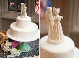 squirrel cake topper wedding at virginia center for architecture gray